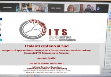 Regione Abruzzo e ITS Meccanica: buone prassi per il sistema duale come ponte verso il lavoro