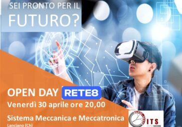 OPENDAY 2021: l'ITS SISTEMA MECCANICA VI ASPETTA SU RETE8