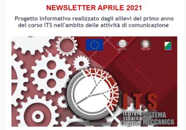ITS Sistema Meccanica: Newsletter di aprile 2021